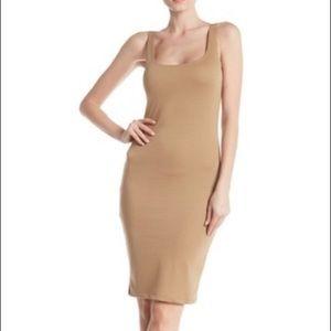Tan/Nude Cotton On Bodycon Kimi Scoop Neck Dress